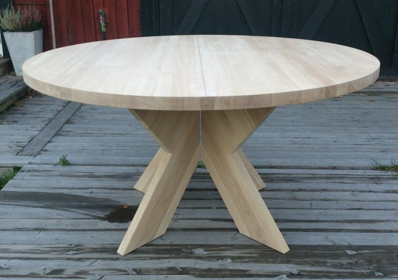 delbart bord i 40 mm massiv obehandlad ek. Black Bedroom Furniture Sets. Home Design Ideas